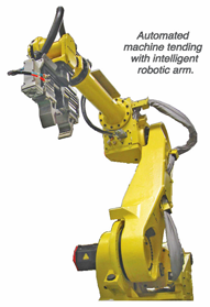 Fanuc robot arm for Turning Center cell
